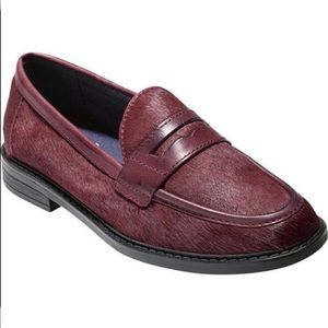 Cole Haan Pinch Oxblood Calf Hair Loafers
